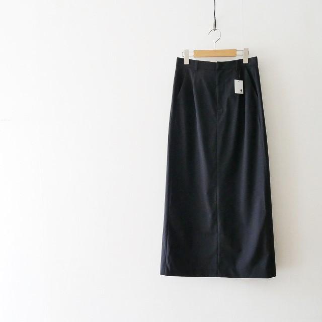 GALERIE VIE ウールストレッチIラインロングスカート