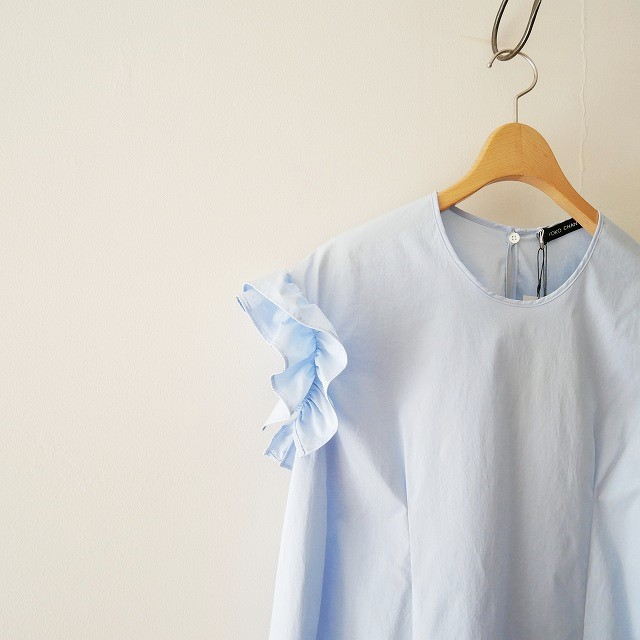 YOKO CHANヨーコチャン Gathered-sleeve Blouse ブラウス 18SS (2)