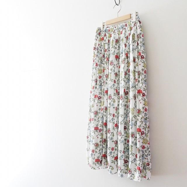 SPICK&SPAN Deveaux フラワープリントスカート