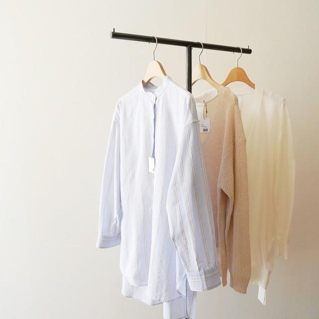 Whim Gazette Lanificio Cangioliストライプシャツ 1
