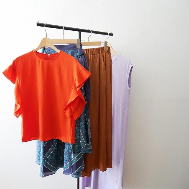 SPICK&SPANスピック&スパン ソデフレア フレンチ ドルマン ブラウス 18SS スカート パンツ ワンピース
