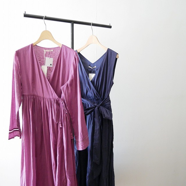 ne quittez pas Cotton voil cross over front gown 1