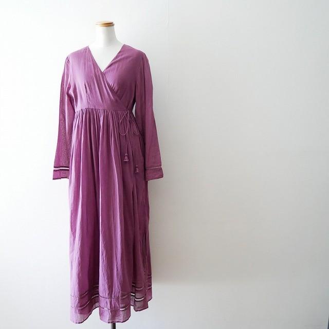 ne quittez pas Cotton voil cross over front gown 2