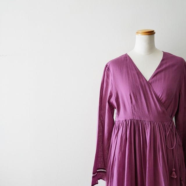 ne quittez pas Cotton voil cross over front gown 3