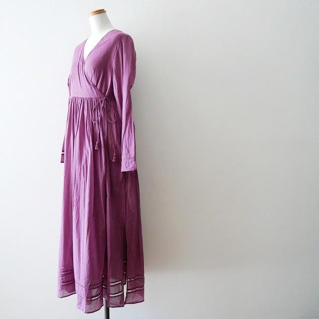ne quittez pas Cotton voil cross over front gown 4