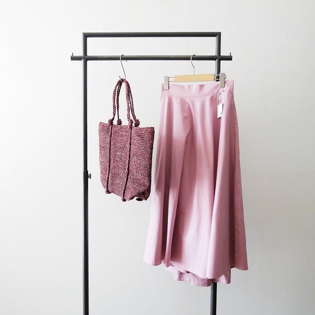 obliオブリ PINK FLARE SKIRT フレア スカート 2018 Sans Arcidetサンアルシデ カゴ バッグ