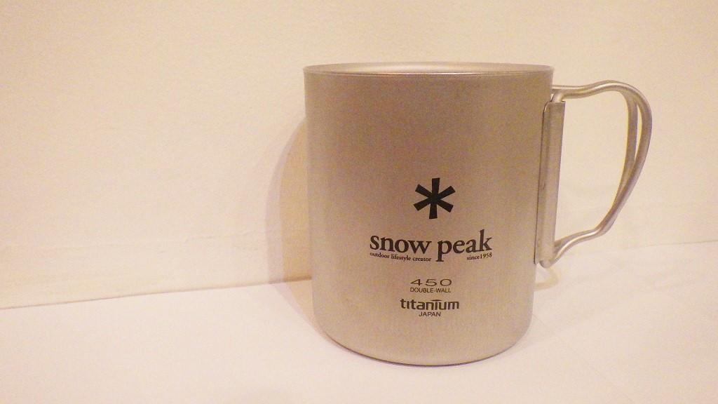snow peak のチタンダブルマグ