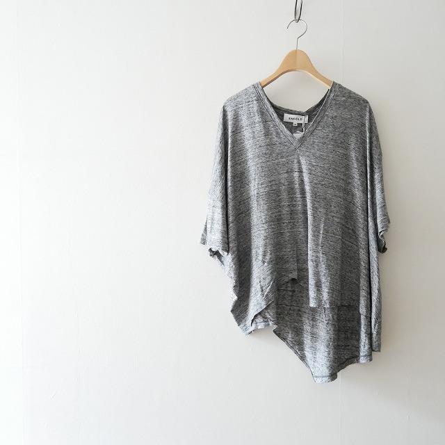 17SS ENFOLDエンフォルド リヨセルアシンメTシャツ
