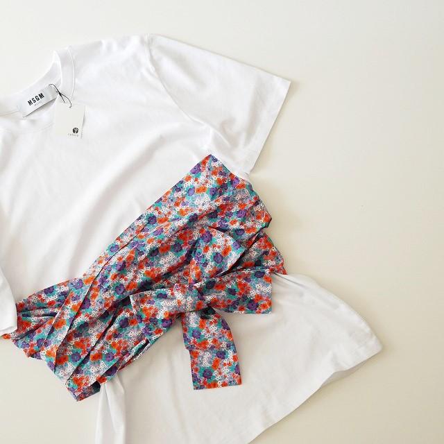 18SS MSGMエムエスジーエム フラワープリントコンビTシャツ2