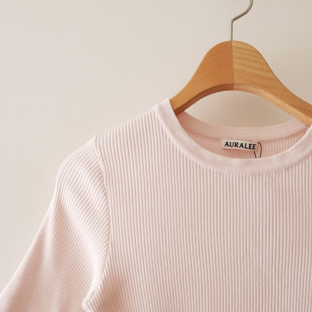 AURALEEオーラリー HIGH GAUGE RIB KNIT TEE リブTシャツ 17SS (2)