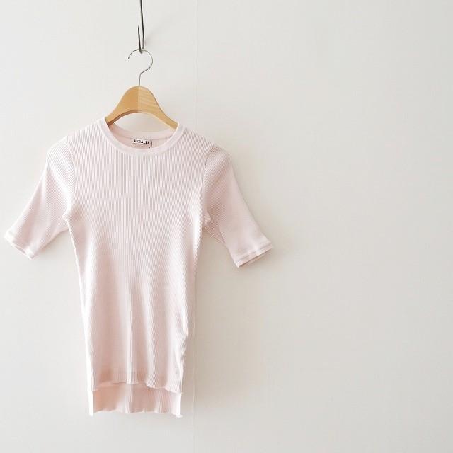 AURALEEオーラリー HIGH GAUGE RIB KNIT TEE リブTシャツ 17SS