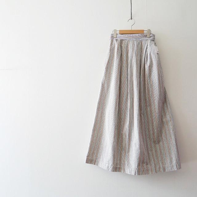 Abahouse Devinette コットンリネンウエストラップスカート 1