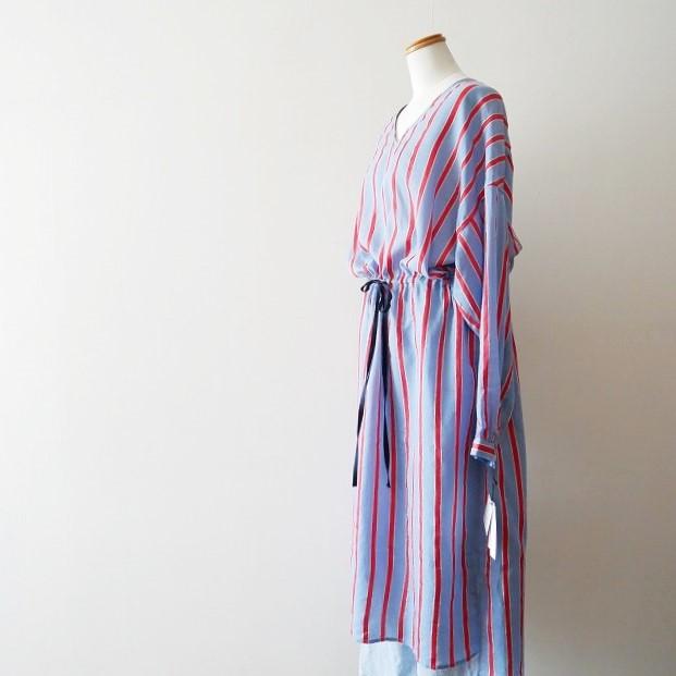 Abahouse Devinette ローンボーダーボリュームドレス