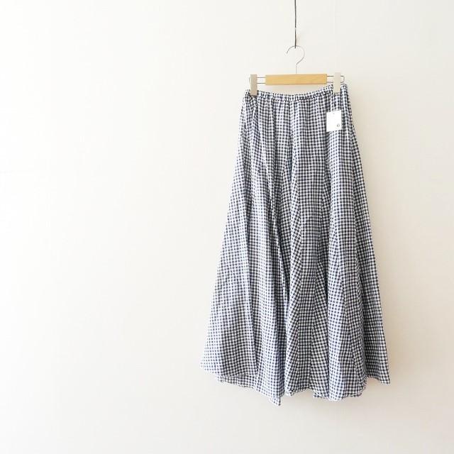 CP SHADES ギンガムチェックロングスカート