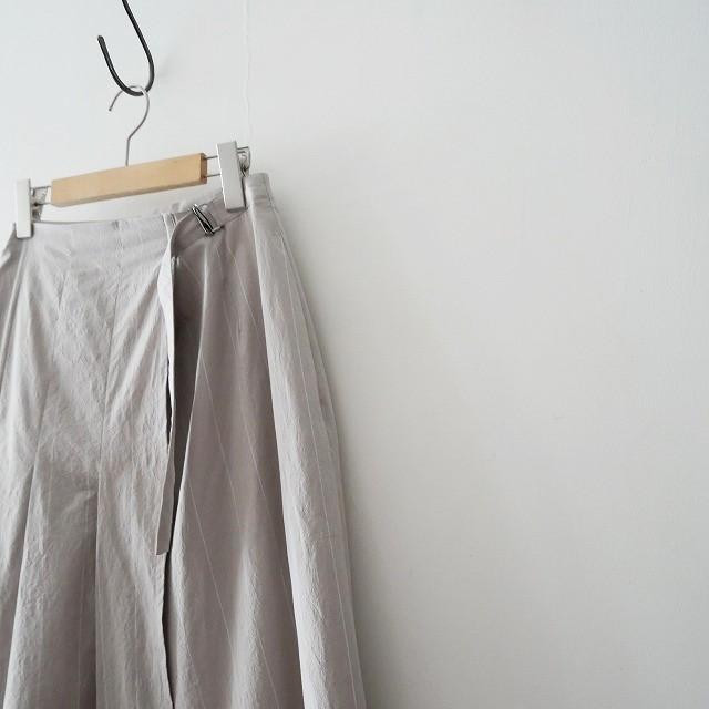 GALERIE VIEギャルリーヴィー コットンストライプ サイドタック スカート 18SS (3)