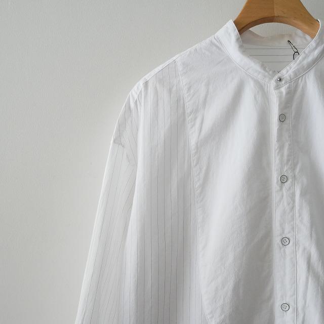 GALERIE VIEギャルリーヴィー ロングストライプ シャツ ワンピース 17SS (2)