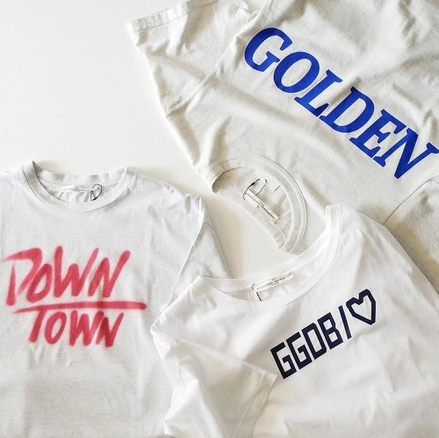 GOLDEN GOOSEゴールデングース DOWN TWONロゴTee Tシャツ