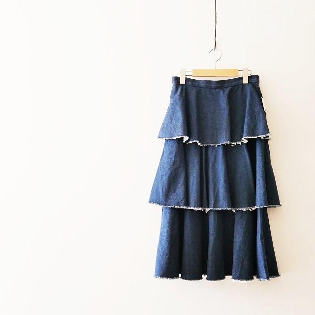 IENA LA BOUCLE イエナ ラ ブークル ロープゾメデニム ティアード スカート 17SS