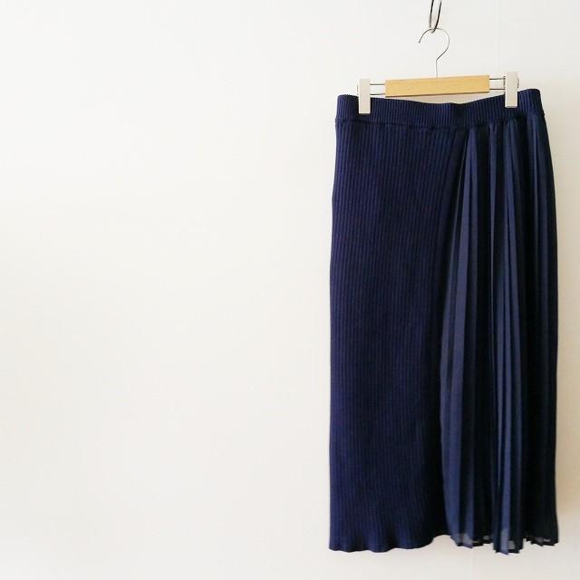 MUVEILミュベール プリーツコンビ スカート 18SS (3)