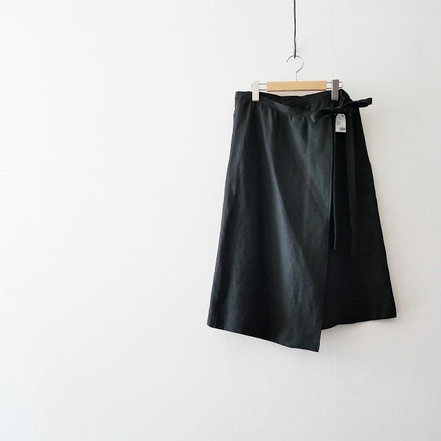 ROPE フレンチリネンラップスカート