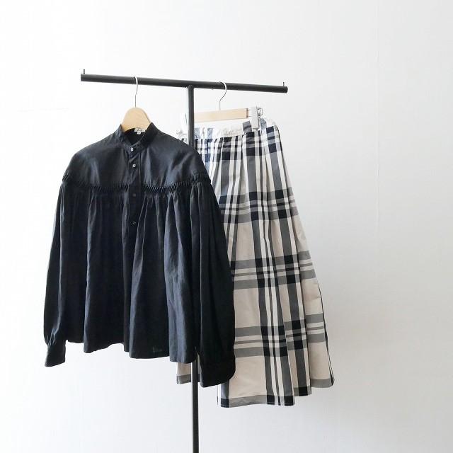 Scye サイ リネン 高密度 タックシャツ 18SS 17SS (2)
