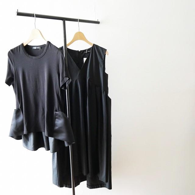 YOKO CHANヨーコチャン V neck Flared Dress ドレス ワンピース Back Gathered Cut-sew カットソー 18SS