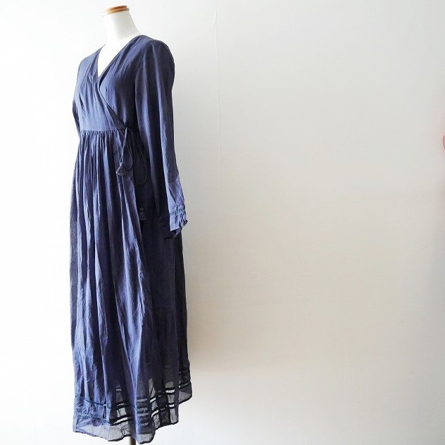 ne Quittez pasヌキテパ メタリックヤーンショルダー ポーチ cottonvoilcrossover gown ガウン 18SS (3)
