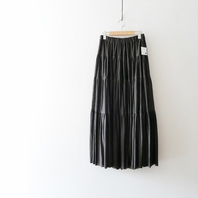 unfil french linen jersey skirt