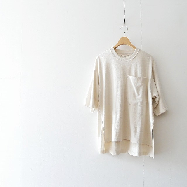 unfil raw silk jersey oversized Tee 2