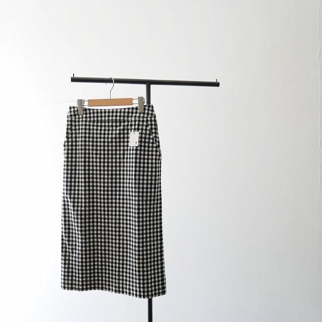 FRAMeWORK ギンガムストレッチスカート