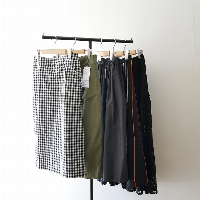 IENA LA BOUCLE マルチラインフレアスカート 1