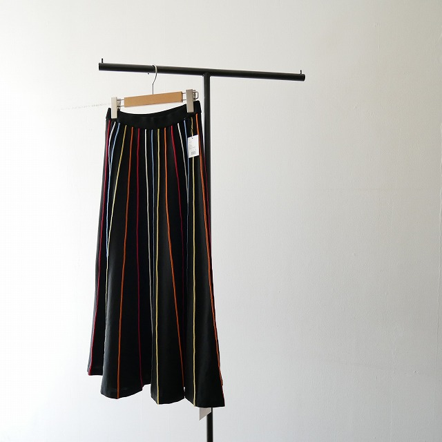 IENA LA BOUCLE マルチラインフレアスカート