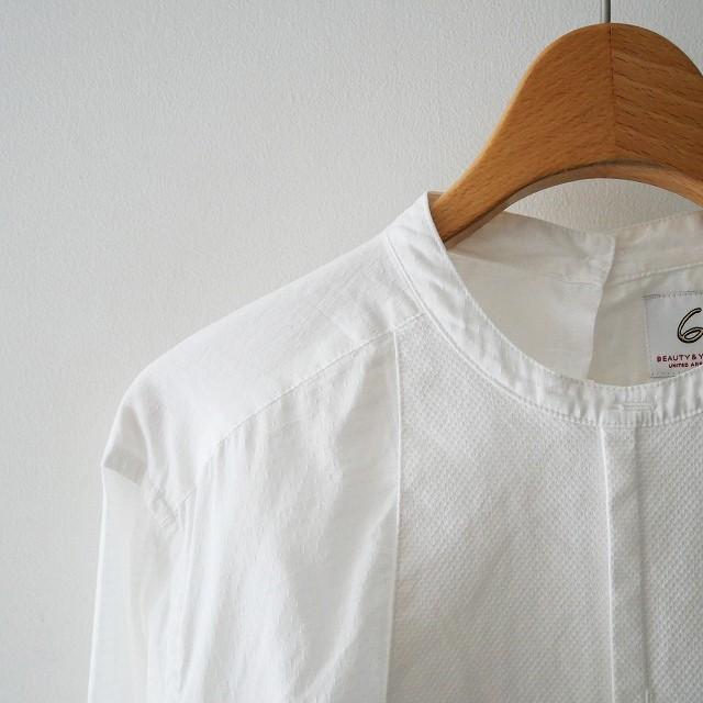 26BEAUTY&YOUTH ビューティ&ユース COTTON DOBBY DYE SHIRT シャツ