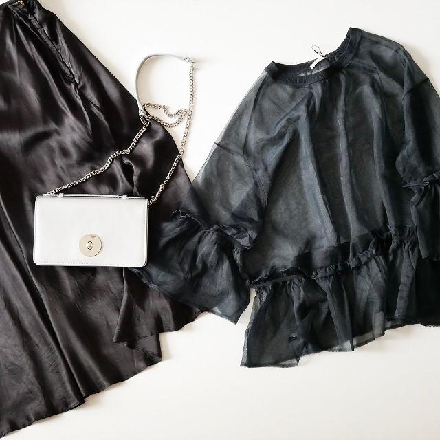 DRESSTERIORドレステリア シースルー ニット 18SS DEUXIEME CLASSEドゥーズィエムクラス GLOSSY SKIRT スカート