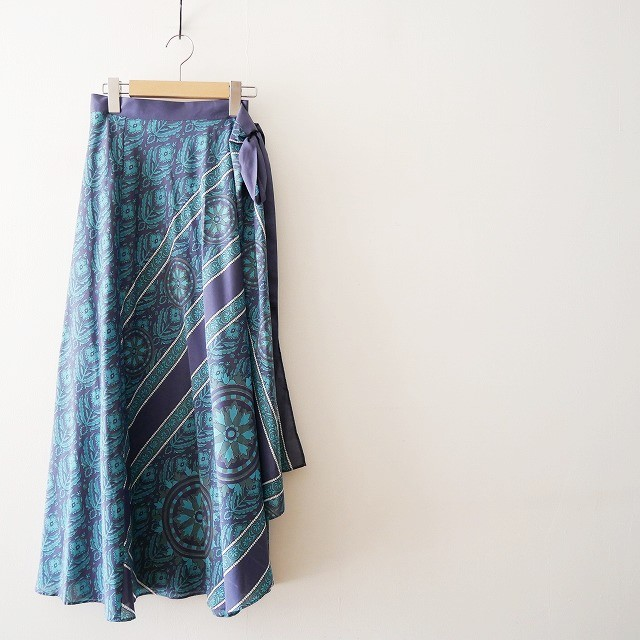 SPICK&SPANスピック&スパン パネルプリント ラップ スカート 18SS