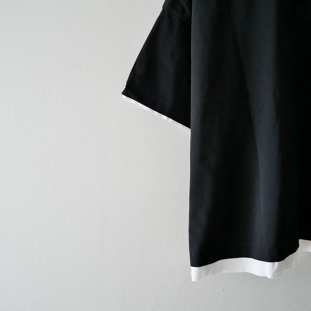 ENFOLDエンフォルド ボイル天竺backing Box Tシャツ 18AW (2)