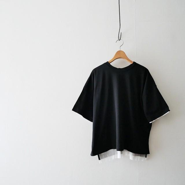 ENFOLDエンフォルド ボイル天竺backing Box Tシャツ 18AW