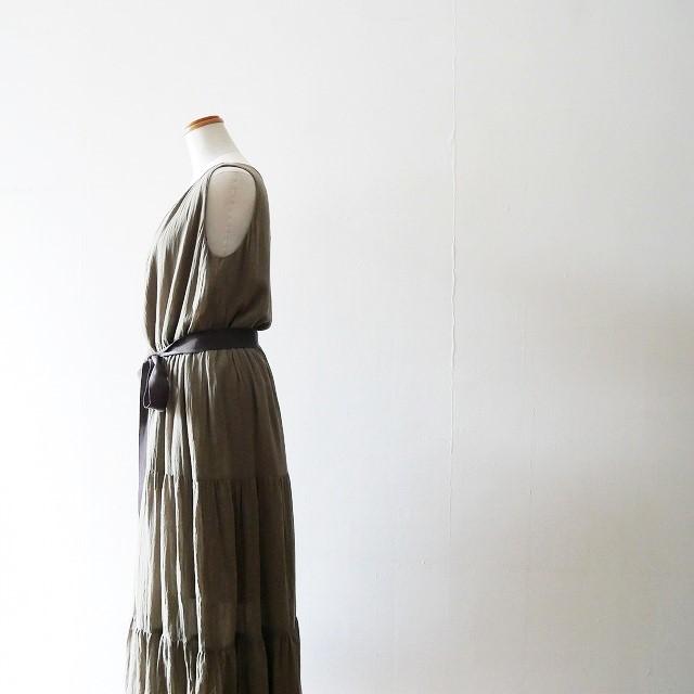 martiniqueマルティニーク コットンクレープ ティアード ドレス 17AW (2)