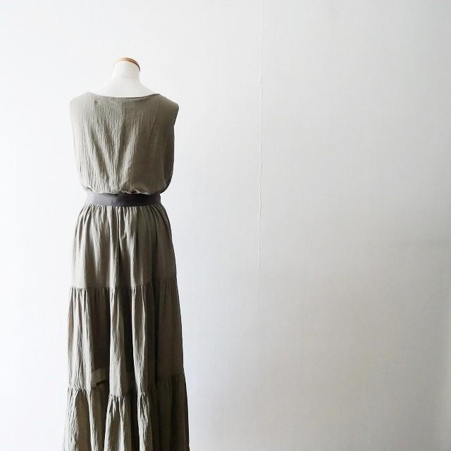 martiniqueマルティニーク コットンクレープ ティアード ドレス 17AW (3)