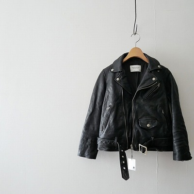 beautiful-peopole shrink-leather-riders-jacket-レザージャケット