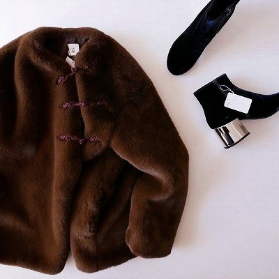 6 BEAUTY&YOUTH FAKE FUR CHINA OUTER コート