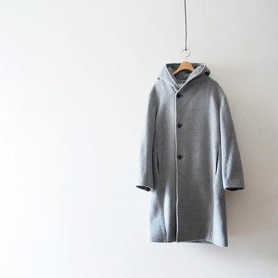 GALERIE VIE カシミヤウールフーデッドコート