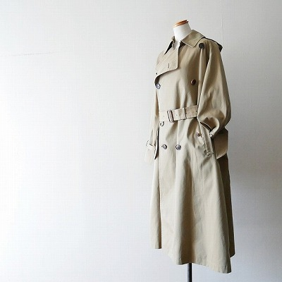 AURALEE FINX CHAMBRAY BIG TRENCH COAT