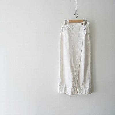 MACPHEE コットンシルクデニム ロングラップスカート