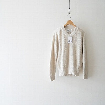 MHL. SLUB COTTON RIB ニット
