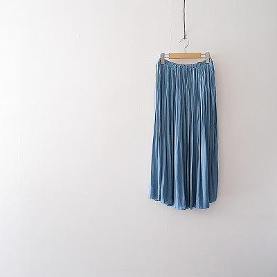 SPICK&SPAN ナイルサテンプリーツスカート