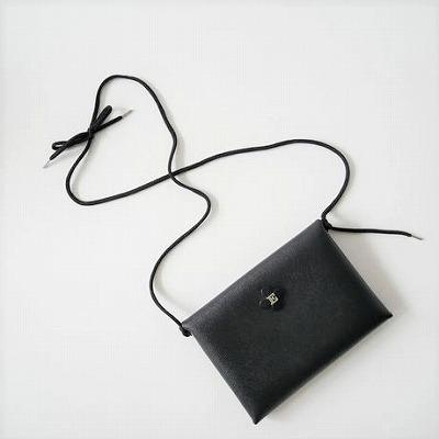 ebagos 小物入れ(型押しキップ)Lサイズ BLACK