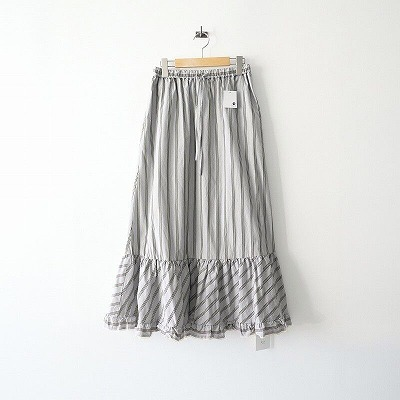 2020SS 未使用 IENA LA BOUCLE ストライプ ヘムフレアースカート